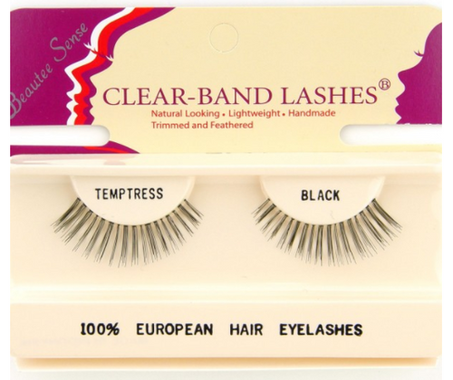 Beautee Sense Clear-Band Lashes - Temptress Brown
