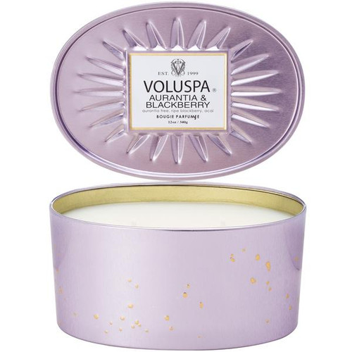 Voluspa 2 Wick Glass Candle - Aurantia & Blackberry