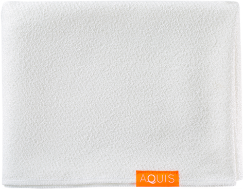 Aquis Lisse Luxe Long Hair Towel, White