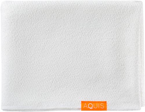 Aquis Lisse Luxe Long Hair Towel, White