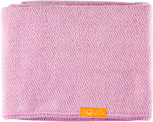 Aquis Lisse Luxe Long Hair Towel, Desert Rose