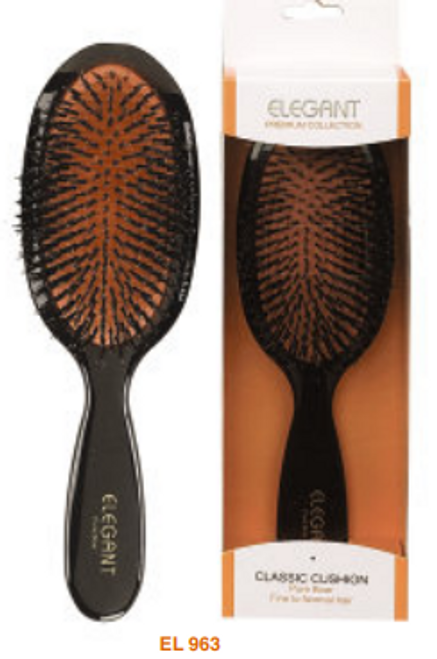 Elegant Premium Oval 100% Boar Medium Brush