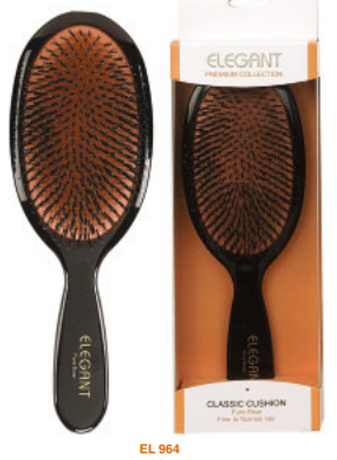 Elegant Premium Oval 100% Boar Large Brush