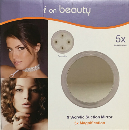 "Lilique i on beauty 9"" Acrylic Suction Mirror"
