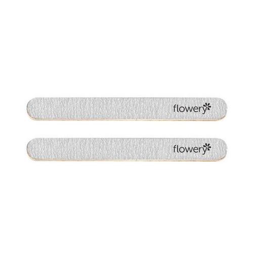 Flowery Silver Streak Nail File