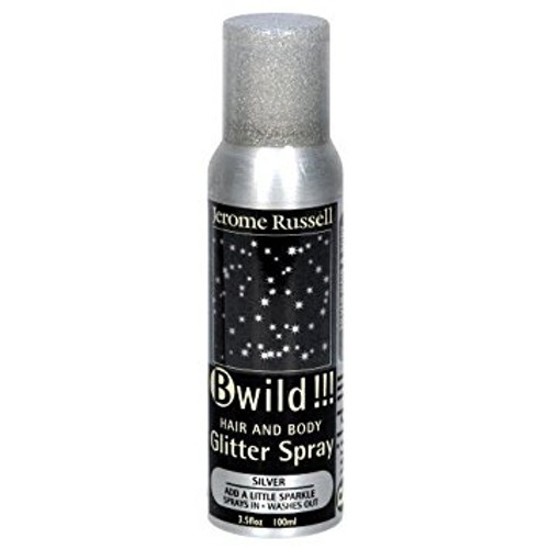 Jerome Russell Bwild Silver Glitter Spray 2.2 oz