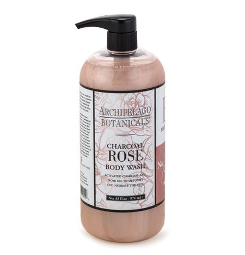 Archipelago Charcoal Rose Body Wash 33 oz