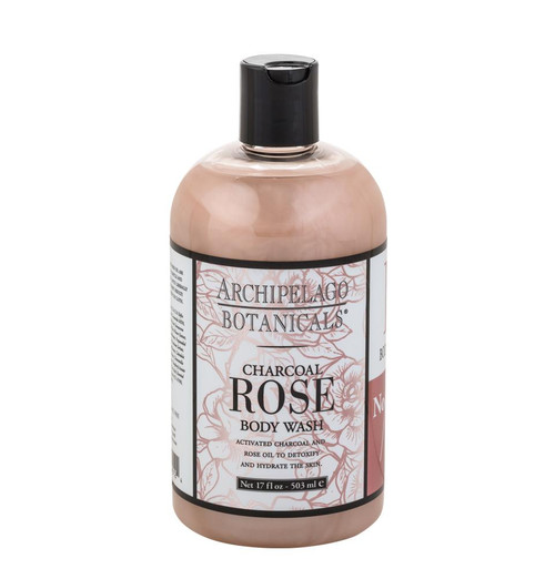 Archipelago Charcoal Rose Body Wash 17 oz