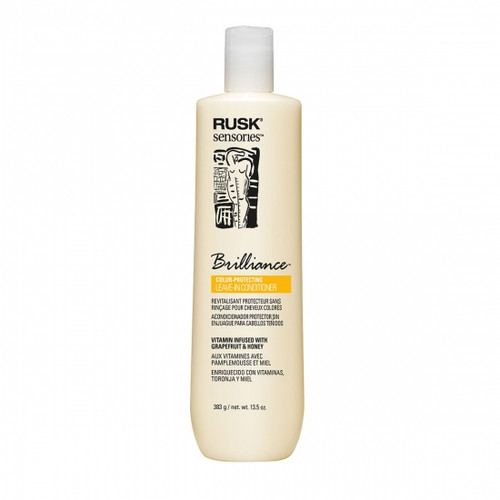 Rusk Sensories Brilliance Grapefruit & Honey Color Protecting Leave-In Cream Conditioner 13.5 oz