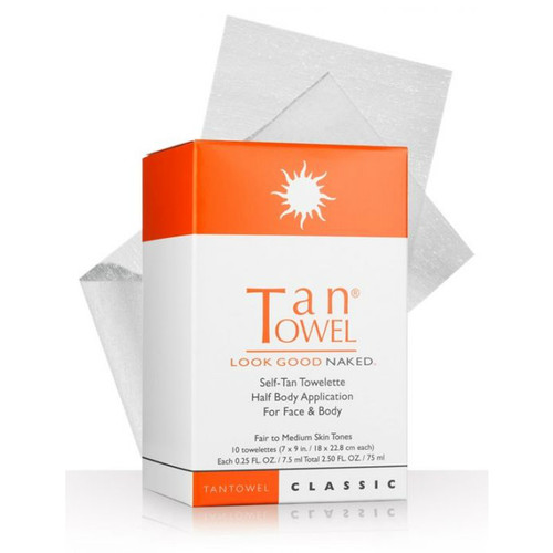 Tan Towel Half Body Classic 10 Pack