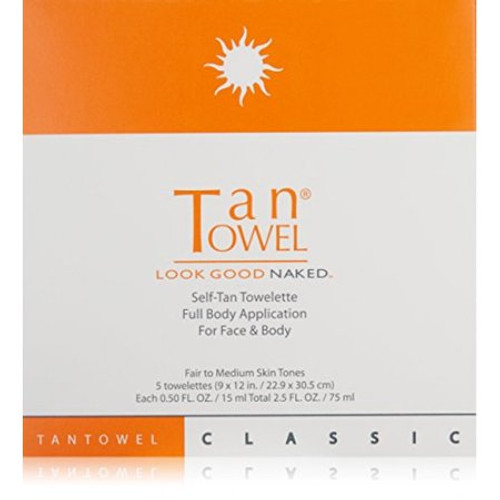 Tan Towel Full Body Classic 5 Pack