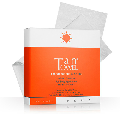 Tan Towel Full Body Plus 5 Pack