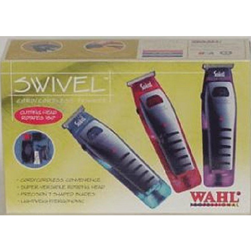 Wahl Professional Cord/Cordless Swivel Trimmer Box - This is the blue-colored trimmer