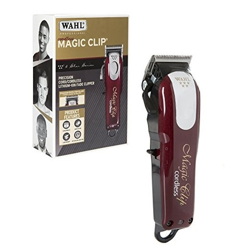 Wahl Cordless Magic Clip, side view and box