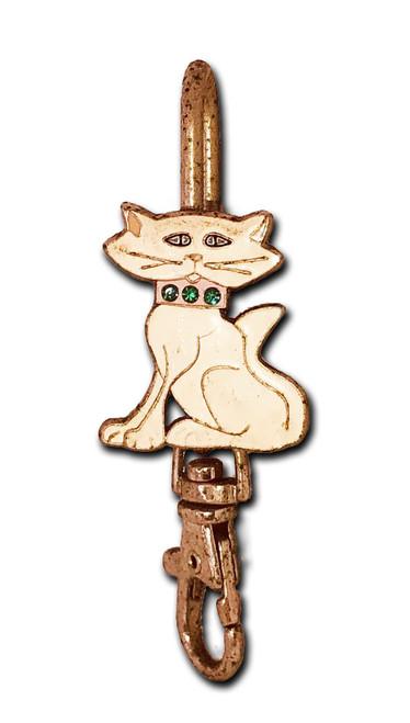 Cat White Key Purse