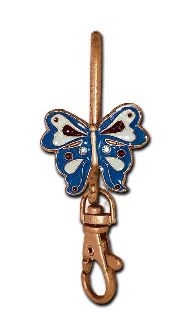 Blue Butterfly Key Purse