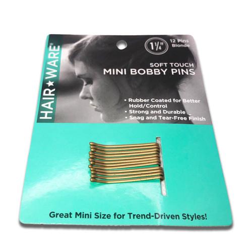 Spilo Blonde Rubberized Mini Bobby Pins
