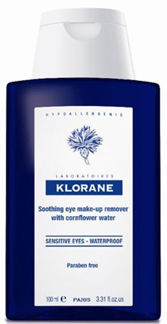 Klorane Soothing Eye Make-Up Remover - Waterproof - 3.4 OZ
