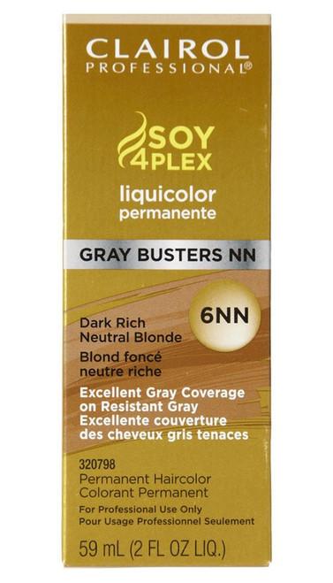 Clairol Professional Liquicolor Gray Busters, 6NN Dark Rich Neutral Blonde 2 Oz