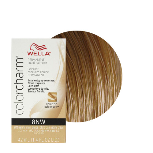 Wella Color Charm 8NW - Light Natural Warm Blonde - 1.4 oz