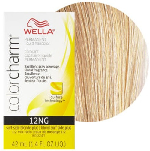 Wella Color Charm 12NG - Surf Side Blonde Plus 1.4 oz: box and color