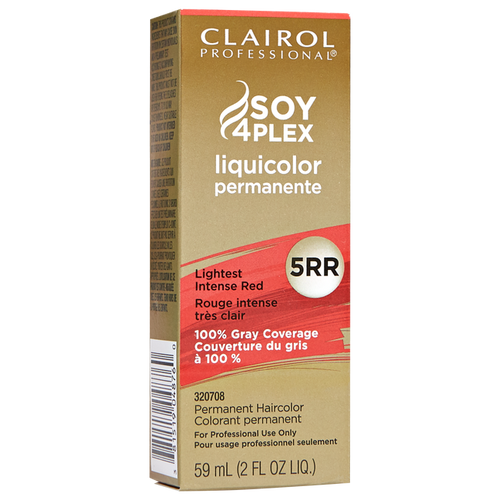 Clairol Hair Color 5RR - Lightest Intense Red - 2 oz box