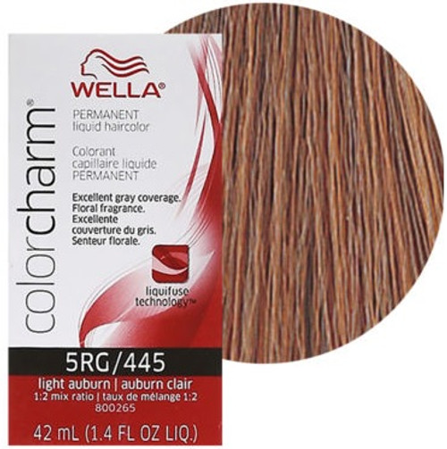 Wella Color Charm Color 445 / 5RG - Light Auburn 1.4 oz
