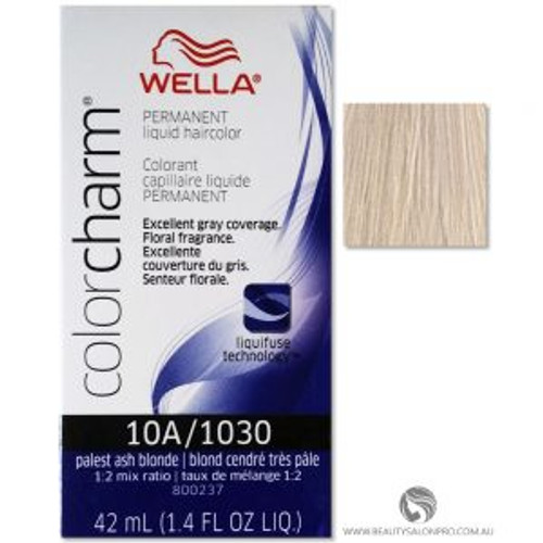 Wella Color Charm Hair Color 1030 / 10A - Palest Ash Blonde 1.4 oz