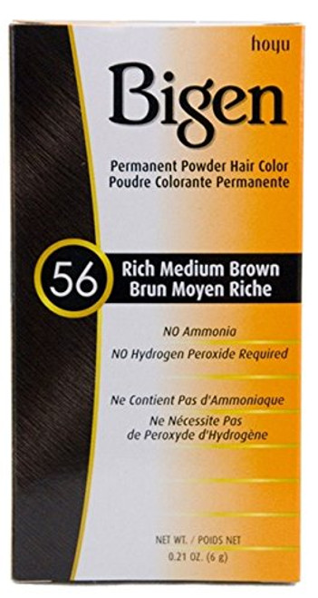 Bigen Hair Color 56 - Rich Medium Brown 0.21 oz