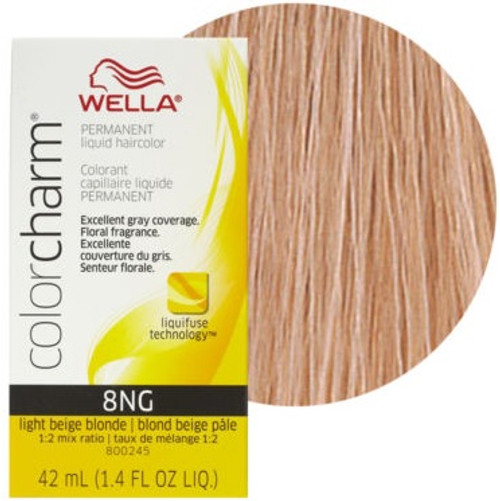 Wella Color Charm 8NG - Light Beige Blonde: box and color