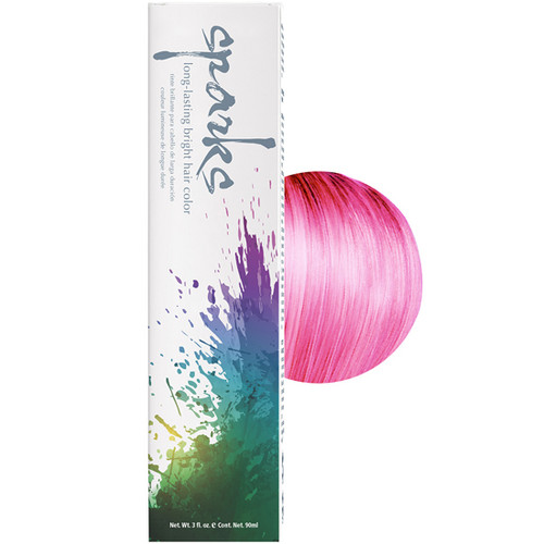 Sparks Pink Kiss Hair Color 3 oz: box and color