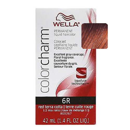 Wella 6R Color Charm - Red Terra Cotta: box and color