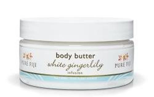 Pure Fiji White Gingerlily Body Butter 8 Oz