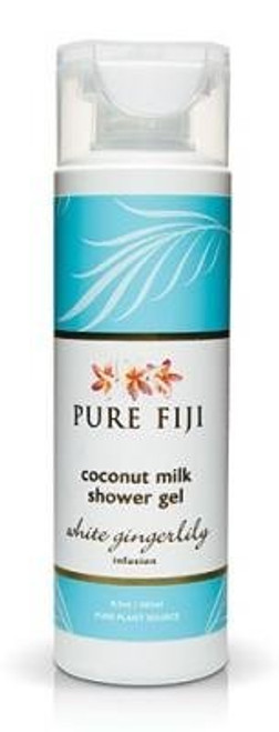 Pure Fiji White Gingerlily Coconut Milk Shower Gel 8.5 Oz