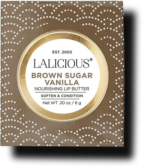 LaLicious Brown Sugar Vanilla Nourishing Lip Butter Soften & Condition 0.2 Oz