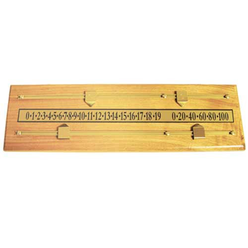 Oak Scoreboard Pool Table Accessory