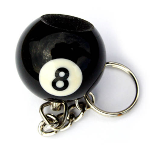 Eight Ball Key Chain and Tip Scuffer