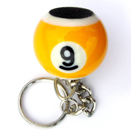 Nine Ball Key Chain and Tip Scuffer