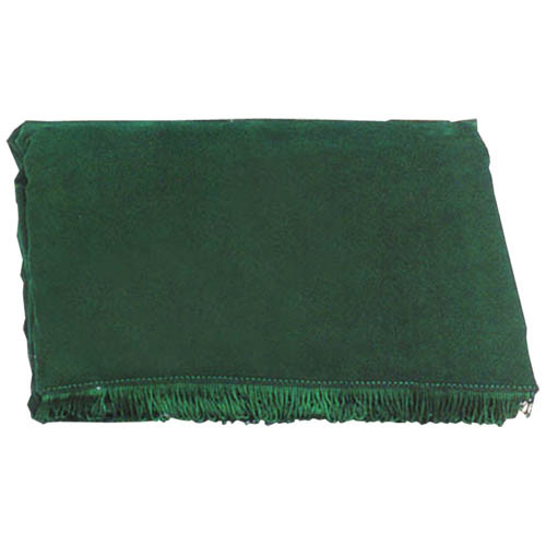 Green 7' Velveteen Pool Table Cover