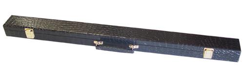 Black Alligator Box Case for 1 Cue