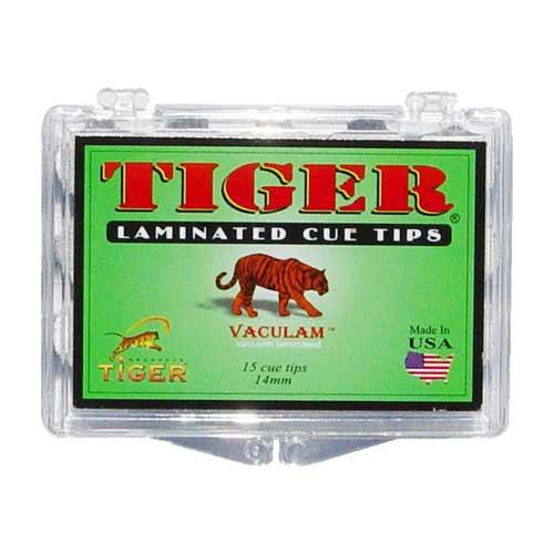 Tiger Laminated Tips, Medium,14mm (Box of 15)