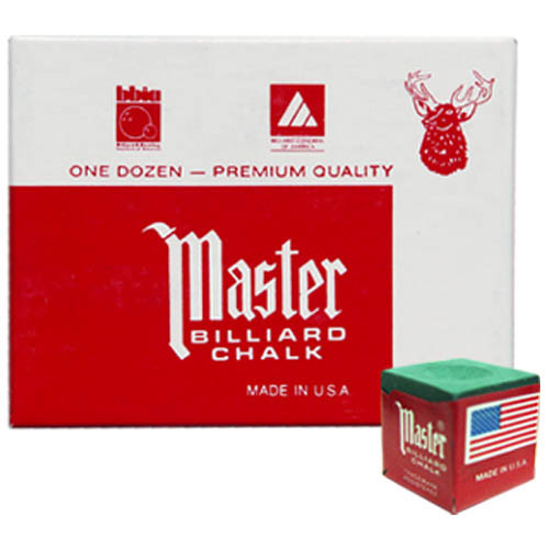 Green Master Chalk, 12 pc. Box