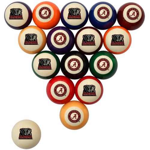 Alabama Crimson Tide Billiard Ball Set - Standard Colors