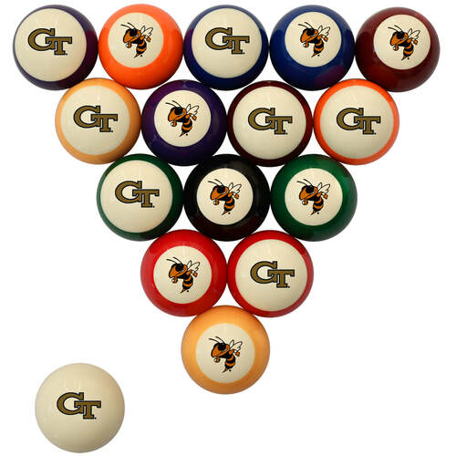 Georgia Tech Yellow Jackets Billiard Ball Set - Standard Colors
