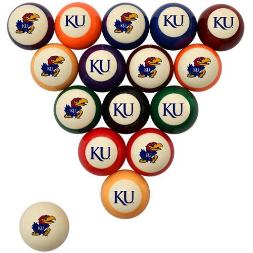 Kansas Jayhawks Billiard Ball Set - Standard Colors