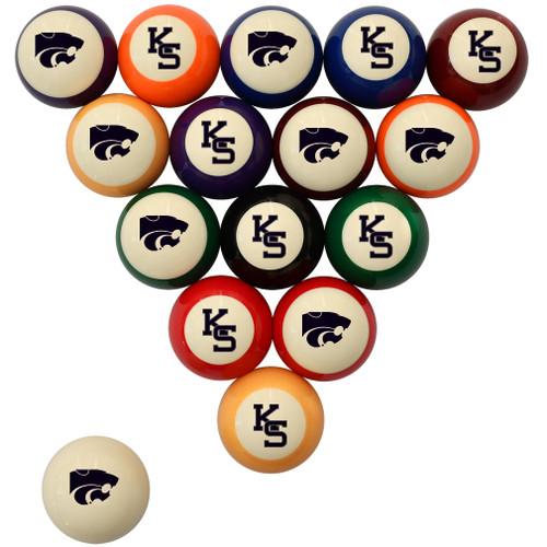 Kansas State Wildcats Billiard Ball Set - Standard Colors