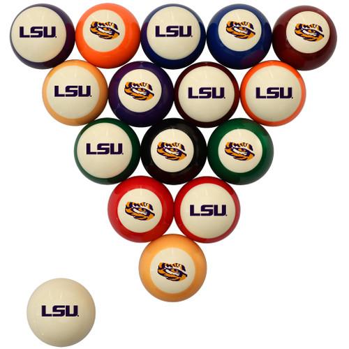 LSU Tigers Billiard Ball Set - Standard Colors