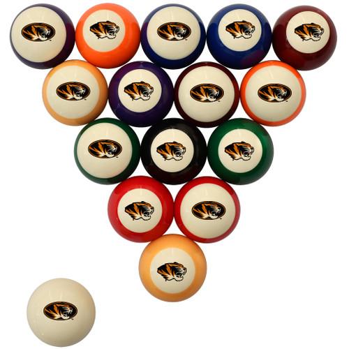 Missouri Tigers Billiard Ball Set - Standard Colors