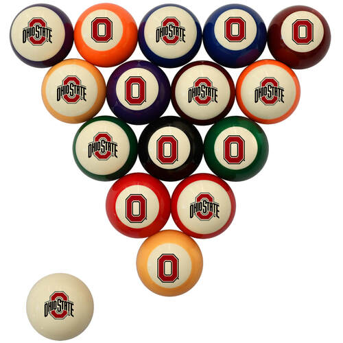 Ohio State Billiard Ball Set - Standard Colors