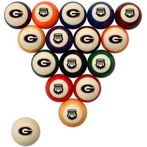 Georgia Bulldogs Billiard Ball Set - Standard Colors
